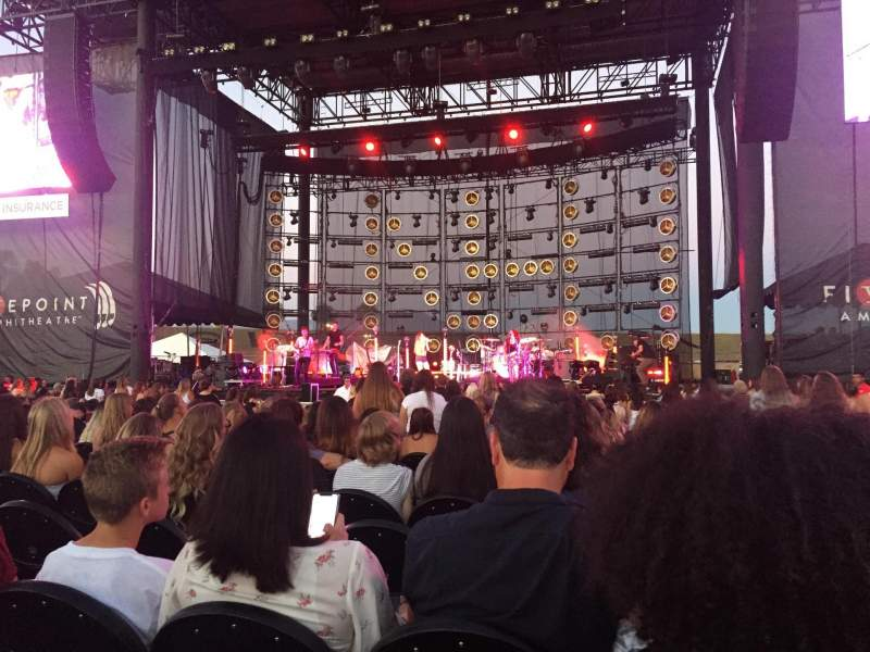 Seating view for FivePoint Amphitheater Section Orchestra 3 Row 18 Seat 12