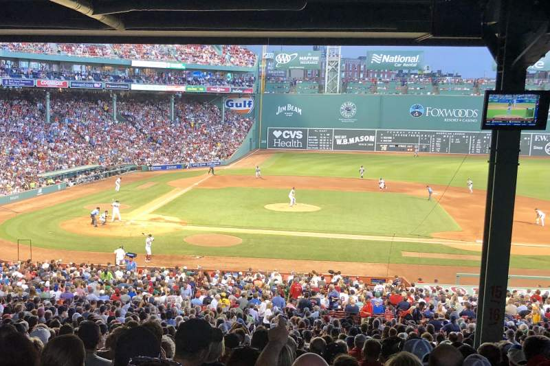Fenway Park, section: Grandstand 16, row: 19, seat: 8