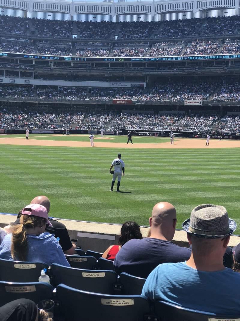 Yankee Stadium, section: 105, row: 7, seat: 7