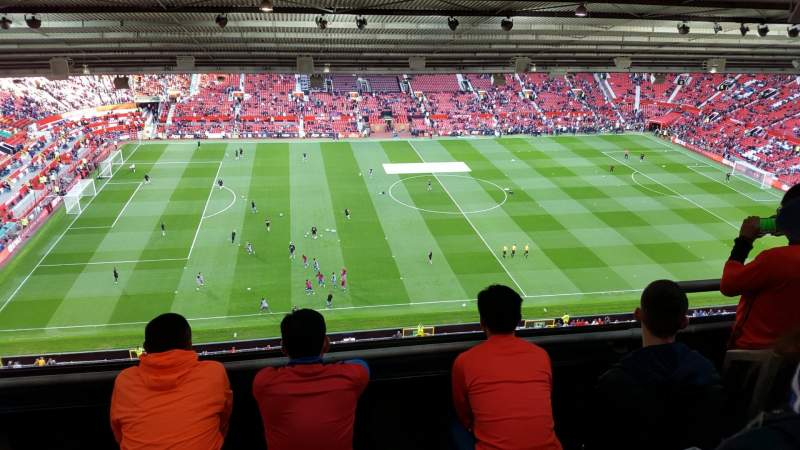 Seating view for Old Trafford Section NN403 Row 4 Seat 176