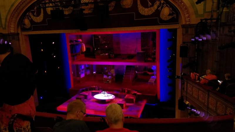 Seating view for Booth Theatre Section Mezzanine R Row E Seat 6
