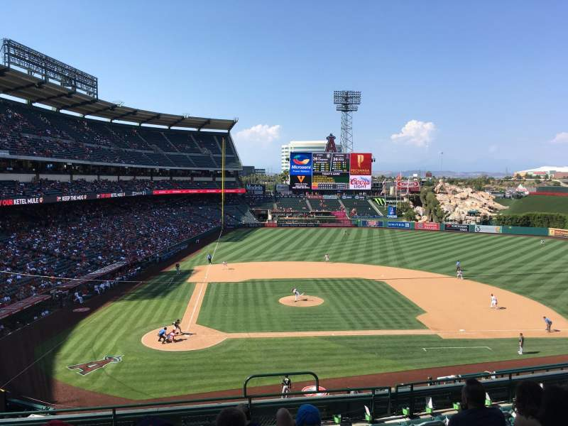 Seating view for Angel stadium Section C332 Row H Seat 12