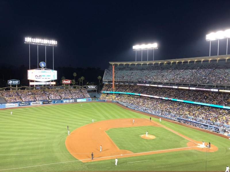Dodger Stadium, section 23RS, row J