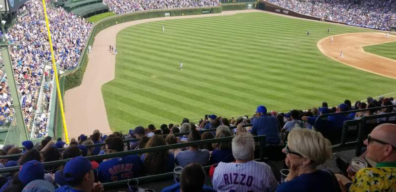Seating view for Wrigley Field  Section 503 Row 4 Seat 5