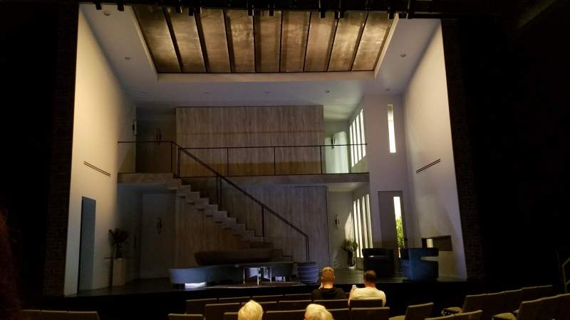 Seating view for Laura Pels Theatre Section Orchestra Row K Seat 109