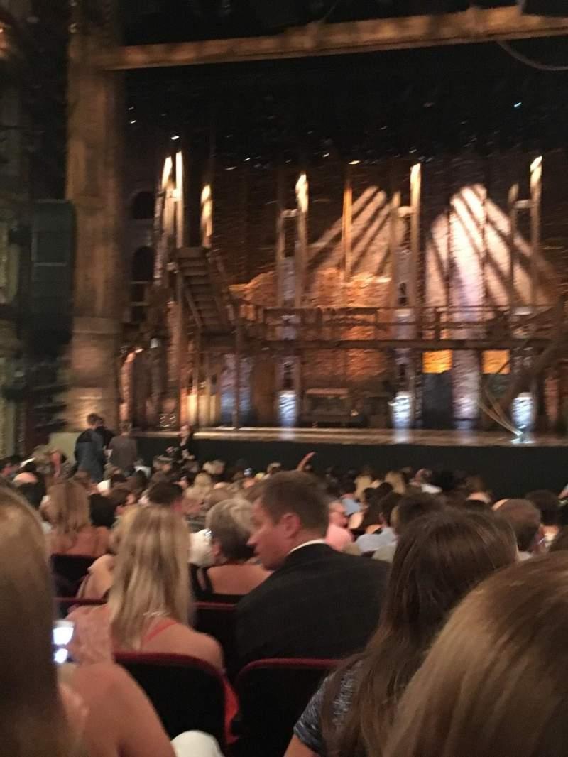 CIBC Theatre, section: Orchestra C, row: V, seat: 115