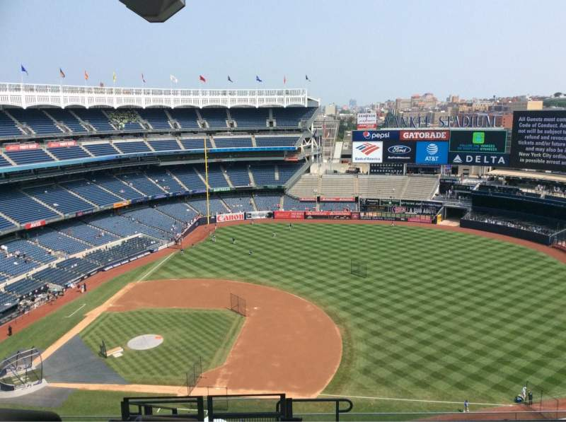 Seating view for Yankee Stadium Section 414 Row 11 Seat 27