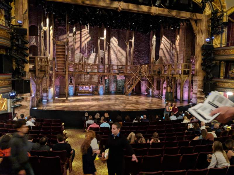 Seating view for Richard Rodgers Theatre Section Orchestra L Row O Seat 1