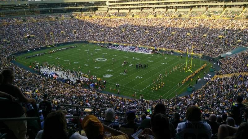 Lambeau Field, section: 632S, row: 10, seat: 3