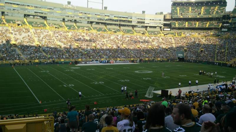 Seating view for Lambeau Field Section 112 Row 40 Seat 23