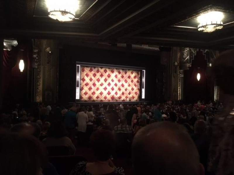 Seating view for Hollywood Pantages Theatre Section Orchestra L Row TT Seat 3