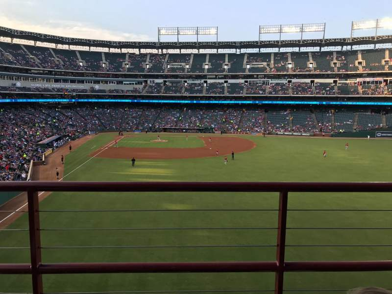 Seating view for Globe Life Park in Arlington Section 247 Row 3 Seat 16