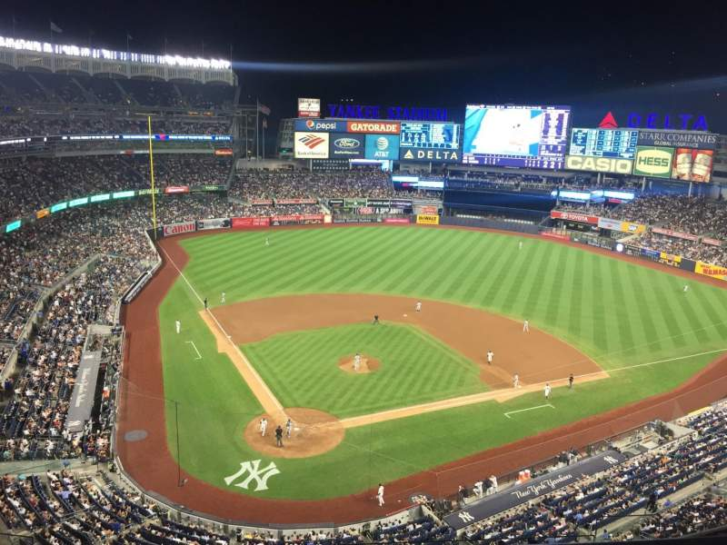 Seating view for Yankee Stadium Section 419 Row 1 Seat 16
