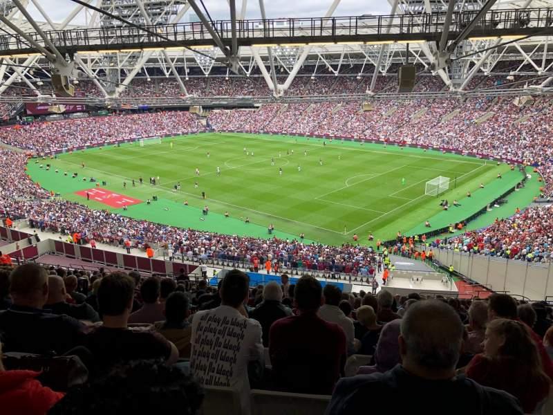 London stadium , section: 214, row: 70, seat: 233