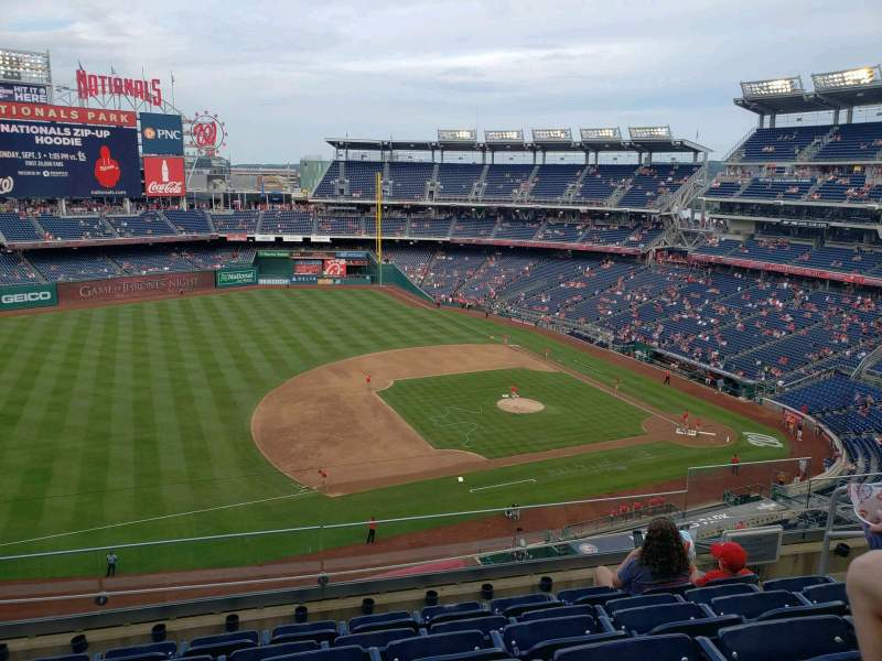 Nationals Park, section: 306, row: F, seat: 7