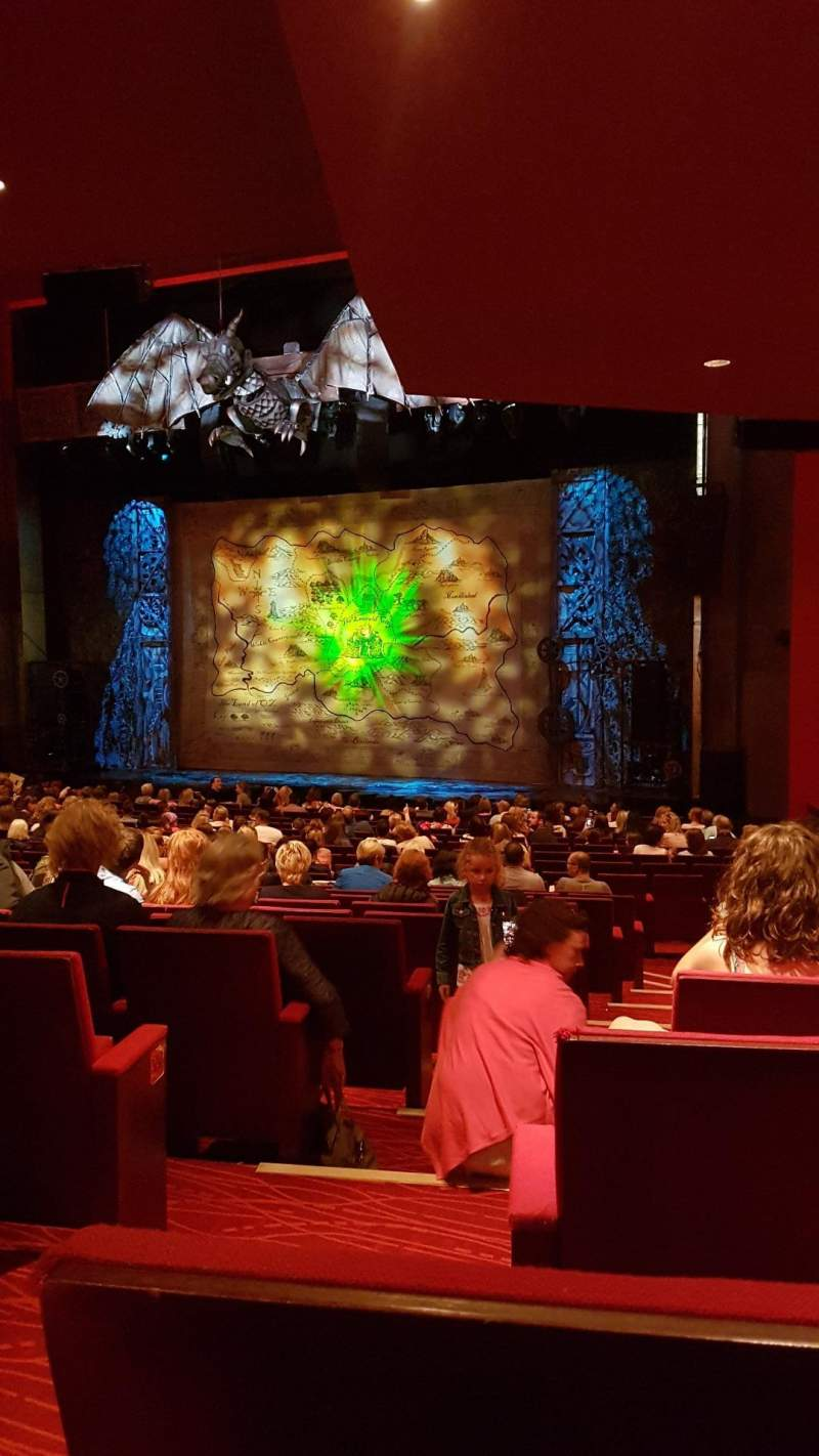 Seating view for Bord Gáis Energy Theatre Section Stallls Row U Seat 44