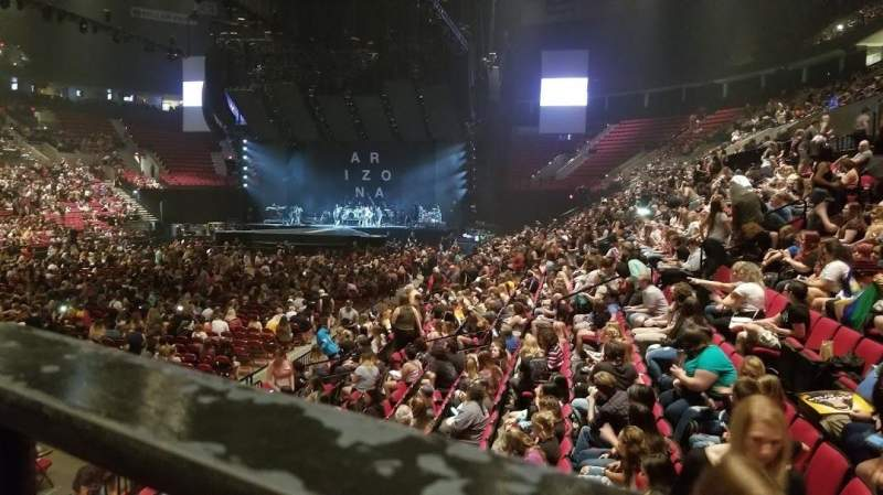 Seating view for Moda Center Section 115 Row M Seat 1