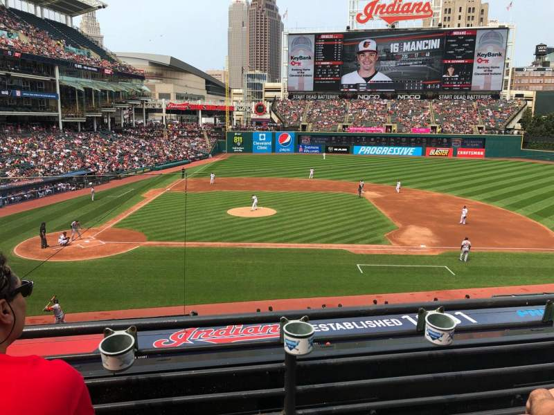 Seating view for Progressive Field Section 346 Row B Seat 6