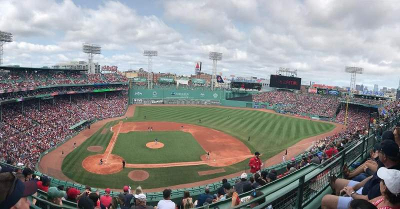 Fenway Park, section: State Street Pavilion Box, row: 2, seat: 9