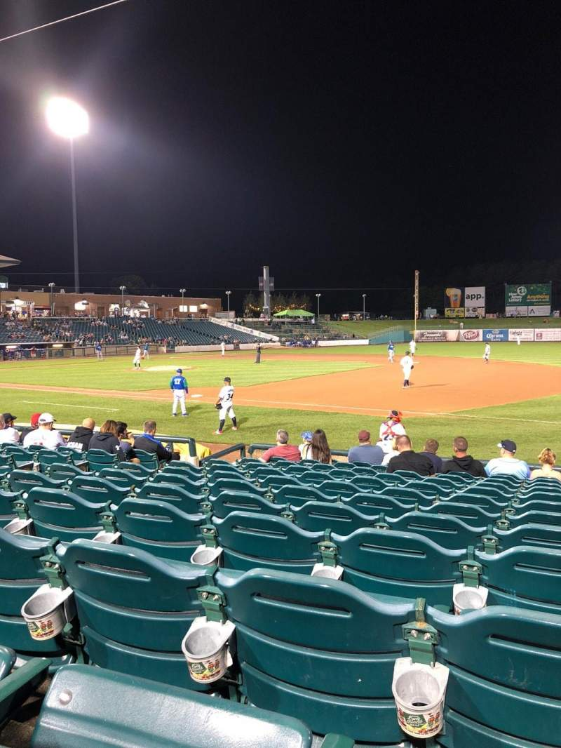 Seating view for FirstEnergy Park Section 102 Row 12 Seat 14