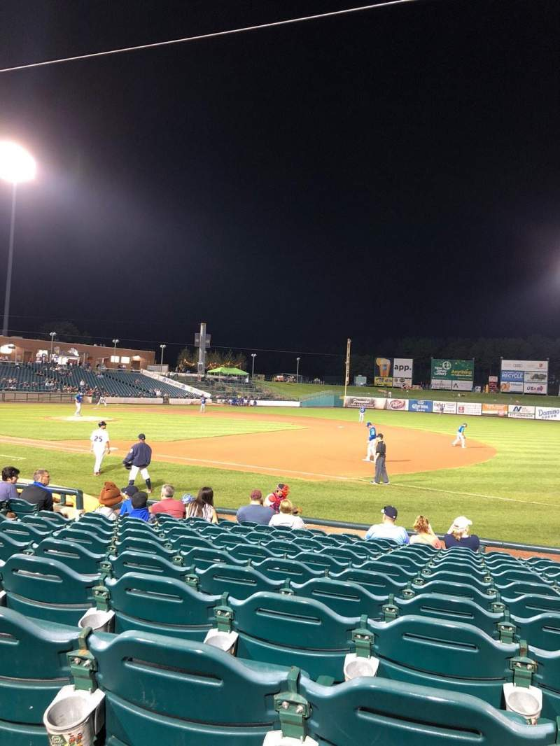 Seating view for FirstEnergy Park Section 102 Row 12 Seat 13