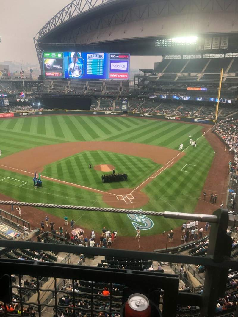 Seating view for T-Mobile Park Section 332 Row 1 Seat 1