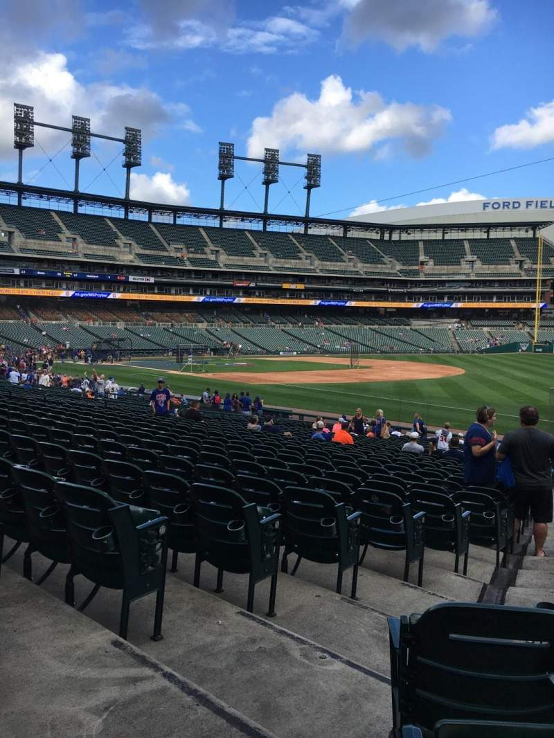 Seating view for Comerica Park Section 115 Row 30 Seat 2