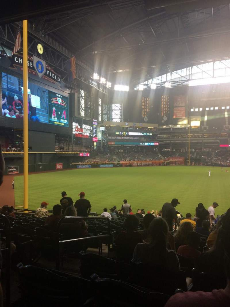 Seating view for Chase Field Section 135 Row 35 Seat 20