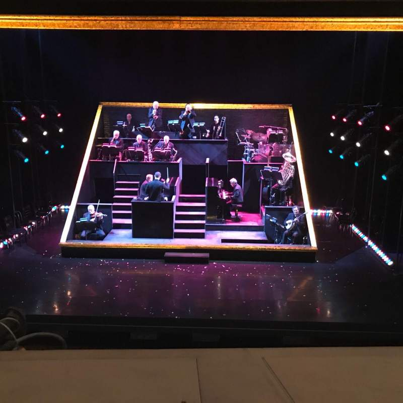 Seating view for Ambassador Theatre Section F. Mezz Row A Seat 102