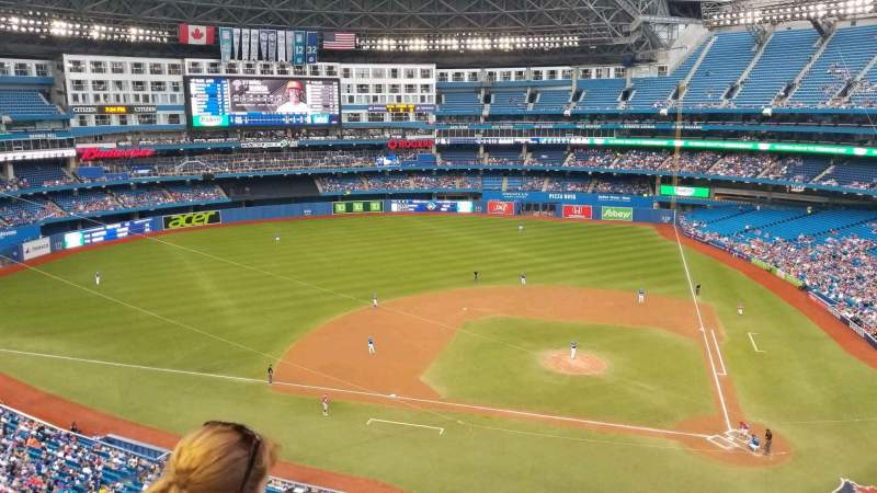 Seating view for Rogers Centre Section 528R Row 2 Seat 5