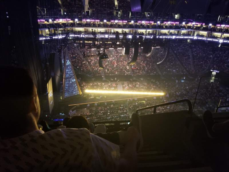 Seating view for Golden 1 Center Section 220 Row H Seat 1