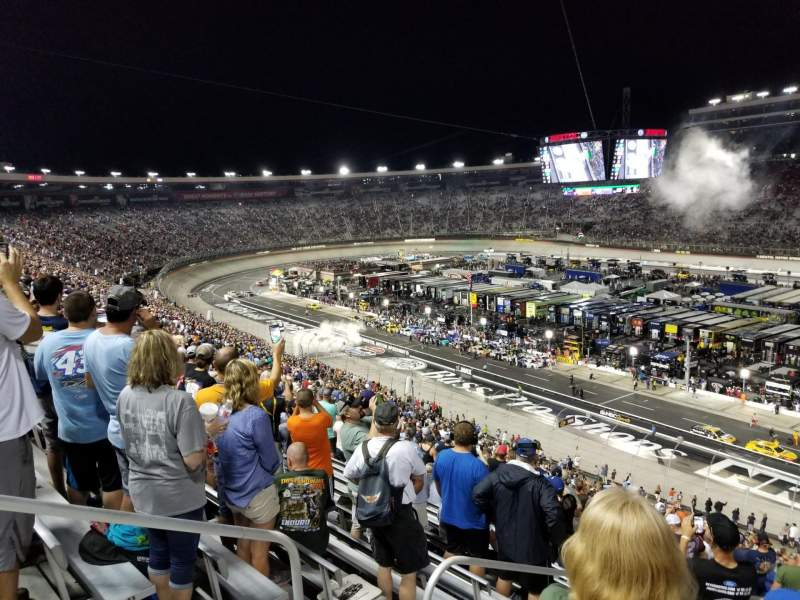 Seating view for Bristol Motor Speedway Section Pearson J Row 57 Seat 12