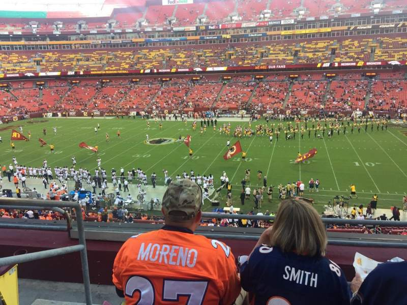 Seating view for FedEx Field Section 319 Row 4 Seat 21
