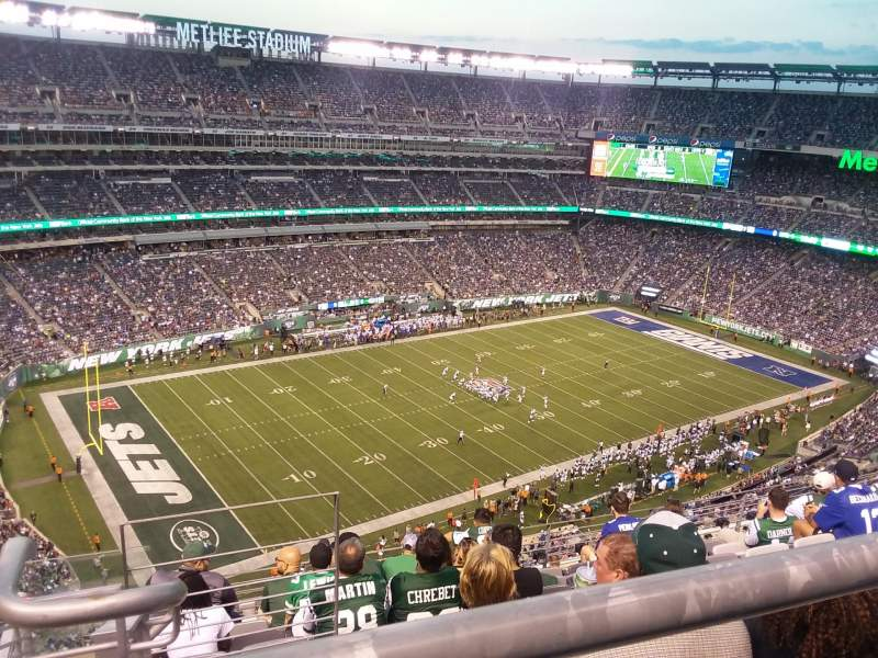 Seating view for MetLife Stadium Section 318 Row 12 Seat 25