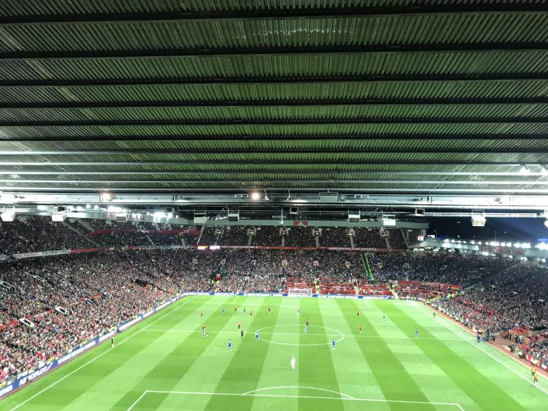 Seating view for Old Trafford Section W3104 Row 14 Seat 90