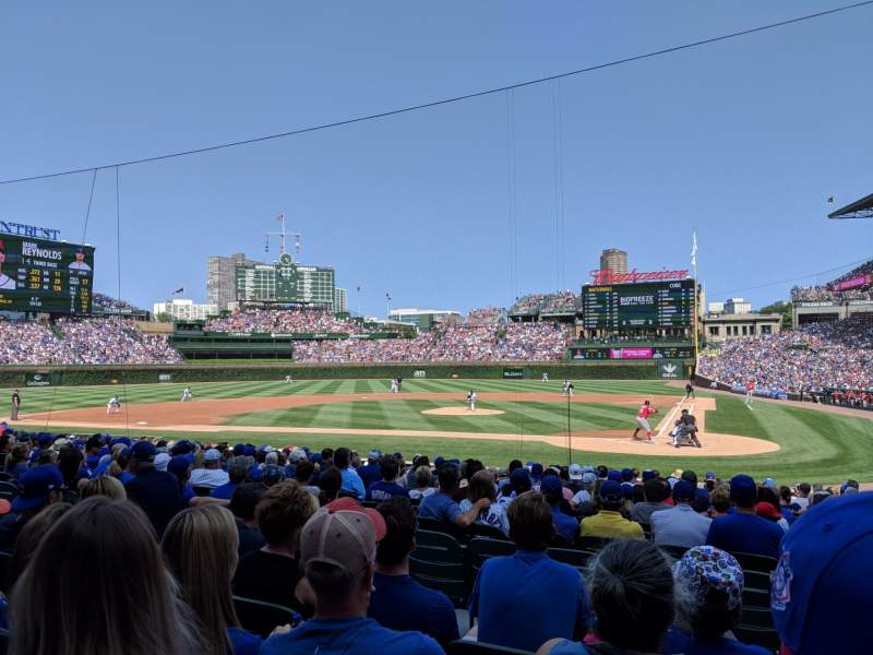 Seating view for Wrigley Field Section 114 Row 4 Seat 7