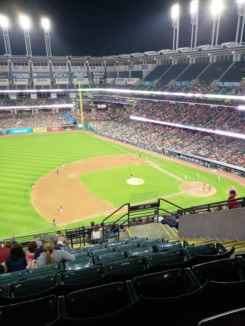 Seating view for Progressive Field Section 467 Row J Seat 8