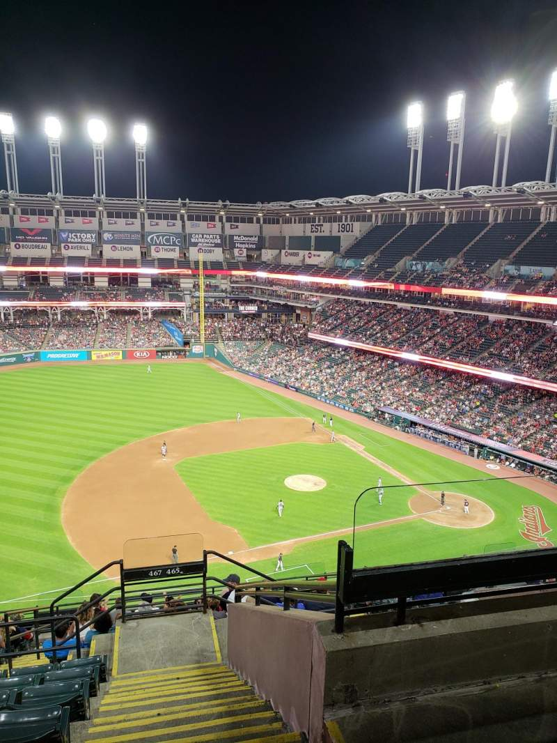 Seating view for Progressive Field Section 467 Row J Seat 3
