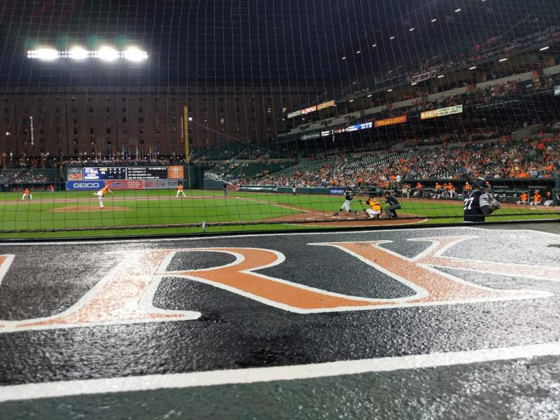 Seating view for Oriole Park at Camden Yards Section 48 Row 1 Seat 10