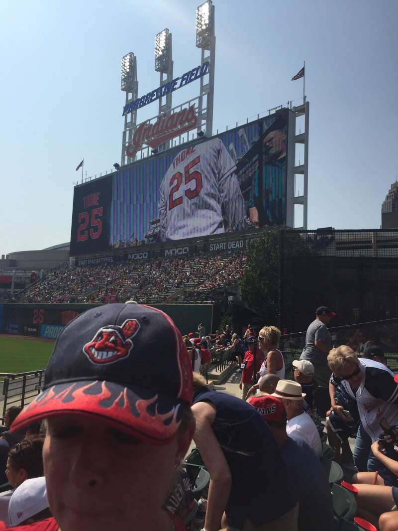 Seating view for Progressive field  Section 103 Row K