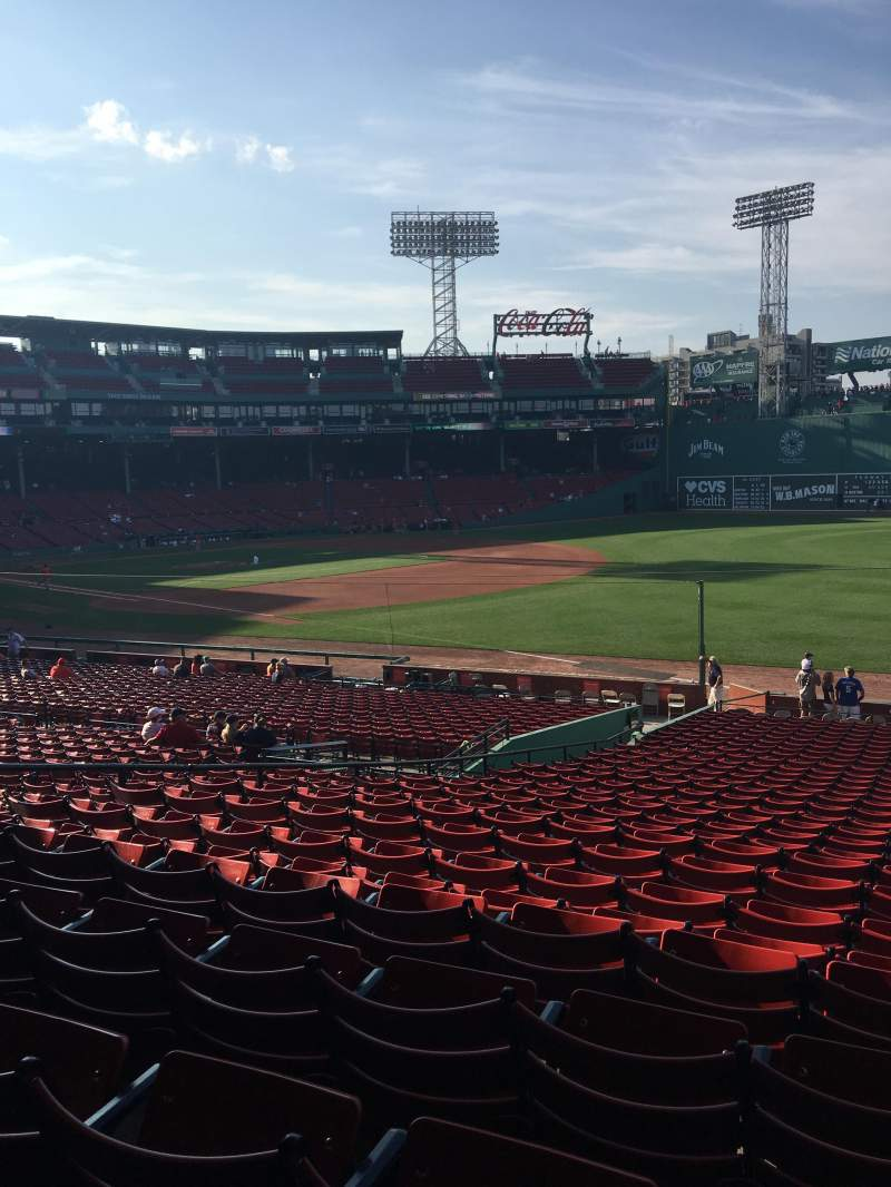 Seating view for Fenway Park Section Grandstand 10 Row 2 Seat 3
