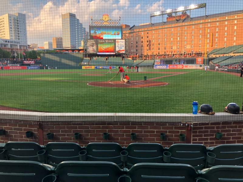 Seating view for Oriole Park at Camden Yards Section 40 Row 4 Seat 4