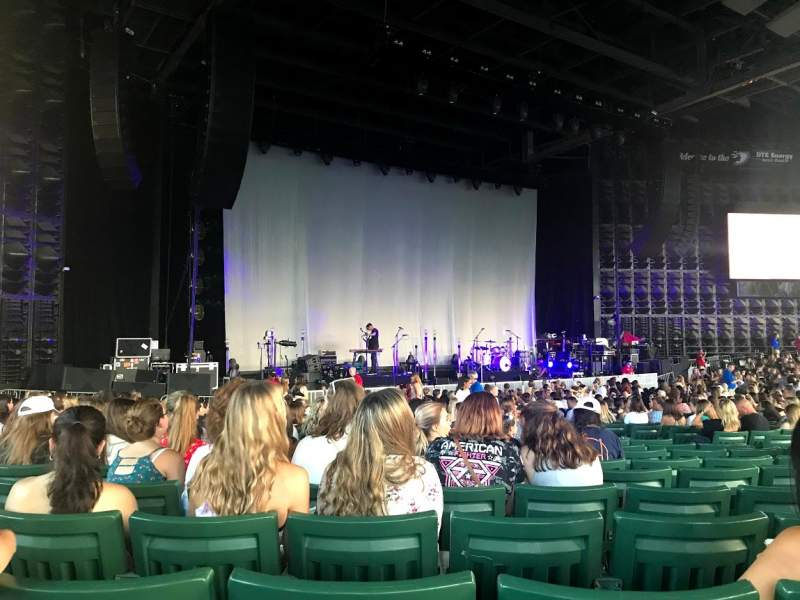 Seating view for DTE Energy Music Theater Section LTC4 Row R Seat 14