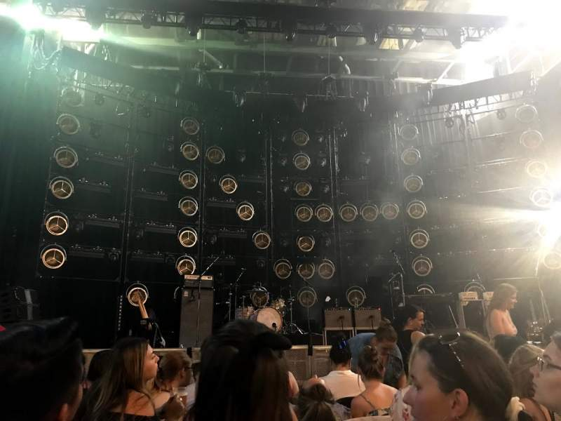 Seating view for DTE Energy Music Theater Section CTR1 Row GGG Seat 15