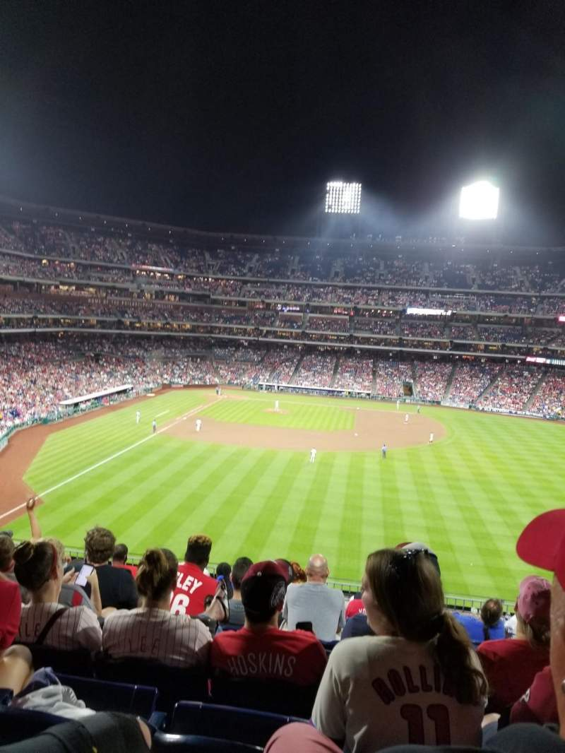 Seating view for Citizens Bank Park Section 203 Row 9 Seat 11