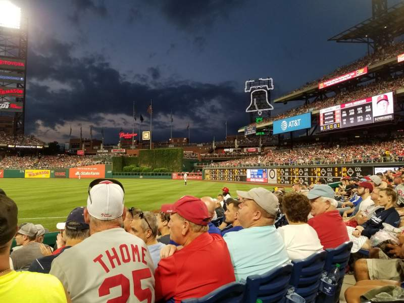 Seating view for Citizens Bank Park Section 111 Row 7