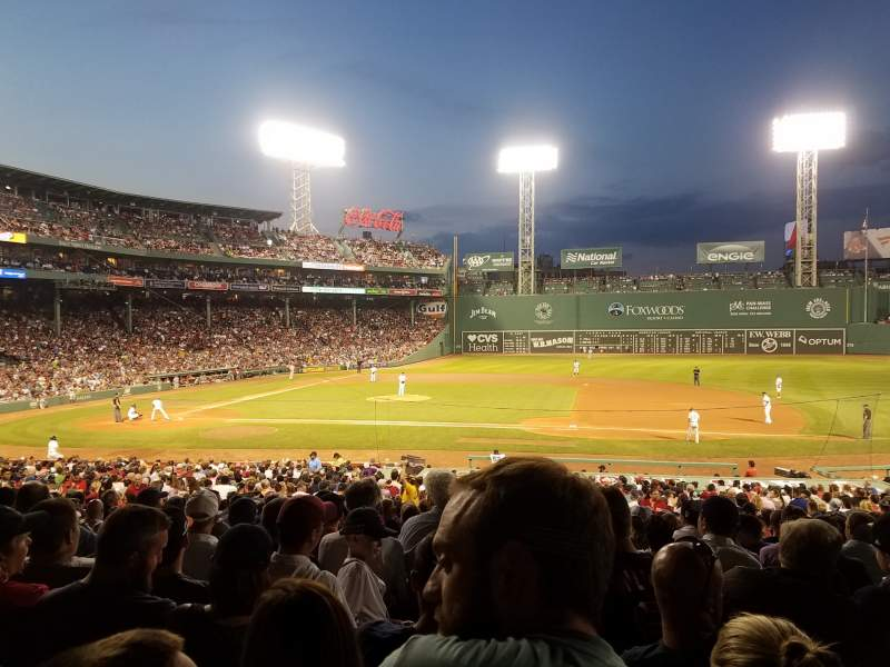 Seating view for Fenway Park Section Grandstand 15 Row 4 Seat 7 and 8