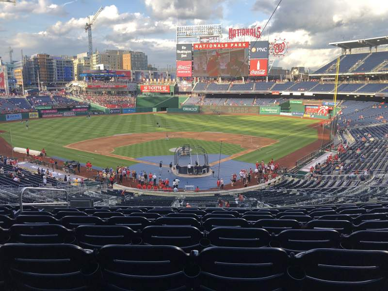 Seating view for Nationals Park Section 213 Row J Seat 13