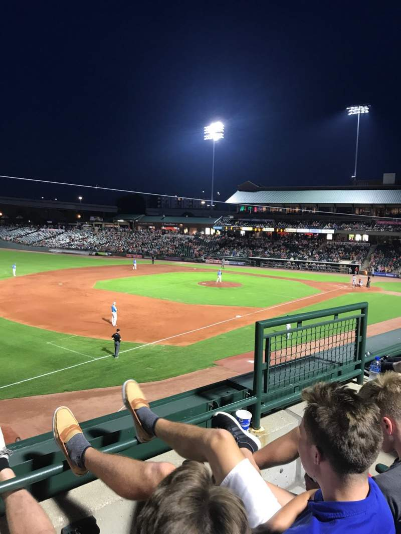 Seating view for Louisville Slugger Field Section 224 Row B Seat 4