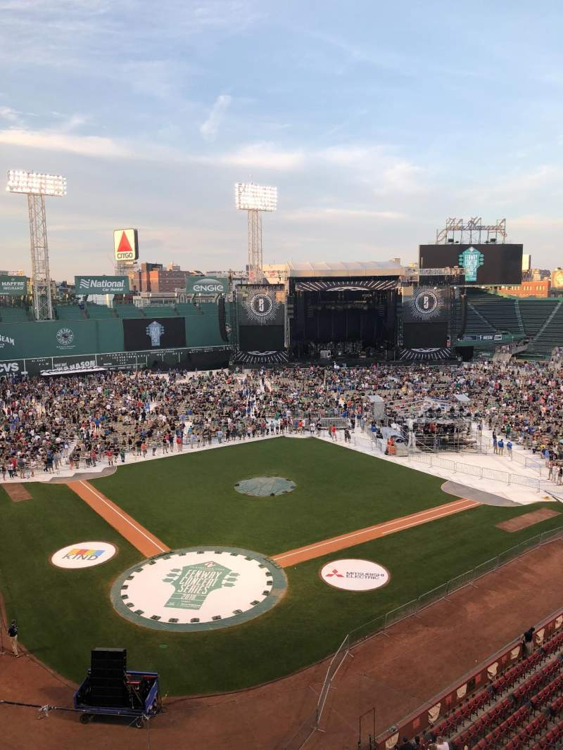Seating view for Fenway Park Section HPP2 Row 1 Seat 5